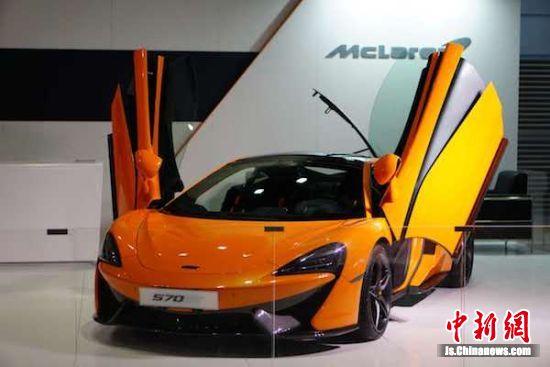 中国(无锡)国际汽车博览会上展出的豪车。