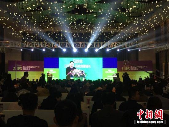 江苏省副省长马秋林在开幕式致辞