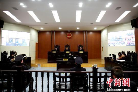 图为扬州首例环境民事公益诉讼案开审现场。 潘玉明 摄