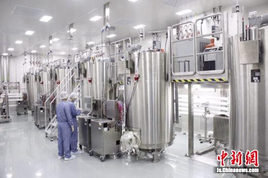 新投产的生物制药生产基地内部。