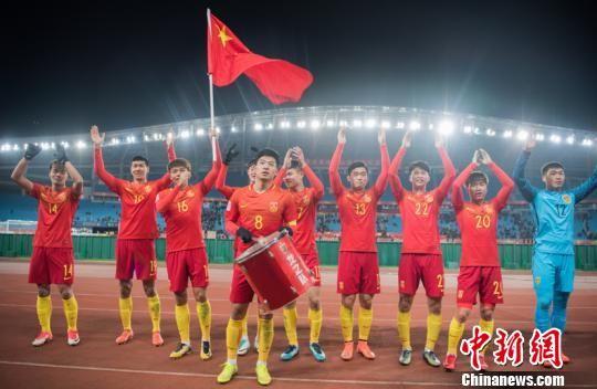 U23亚洲杯首战 国足3:0完胜阿曼 杨杰 摄