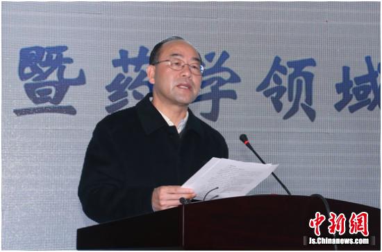 德国科学院院士、中国药科大学校长来茂德致辞杨敬强摄