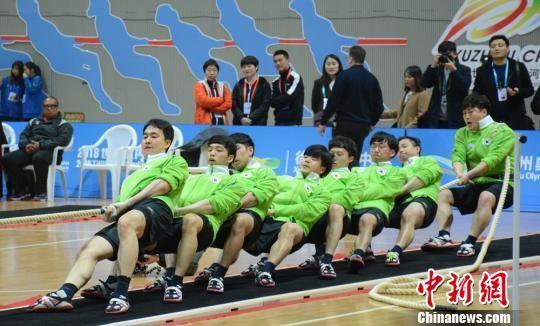 韩国队在比赛中。 朱志庚 摄