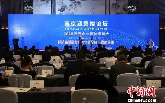 2018世界企业领袖高峰会·南京涵碧楼论坛1日在南京开幕。 李珂 摄
