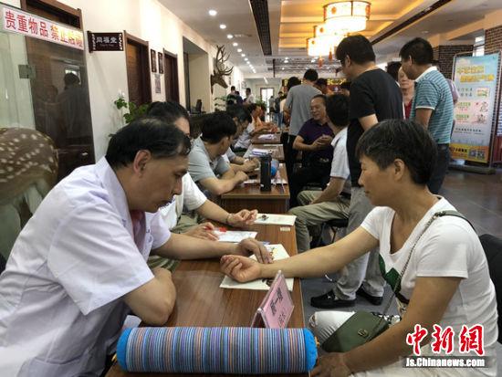 阳山镇组织阳山国医堂项目开展义诊活动。