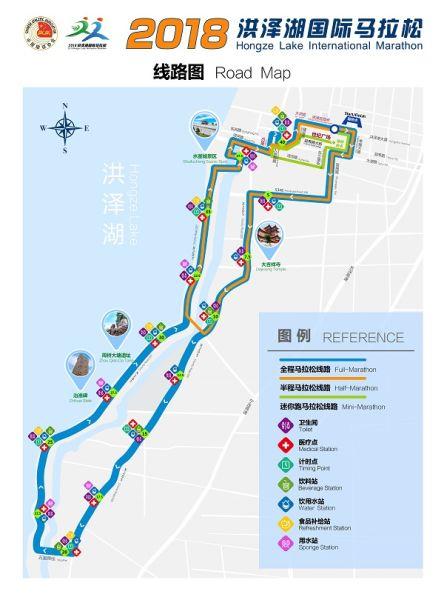 2018洪泽湖马拉松线路图