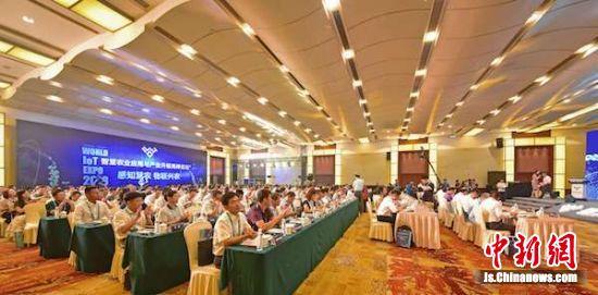 图为智慧农业应用与产业升级高峰论坛现场。