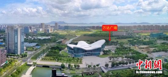 新吴区万达广场大致位置如图所示。