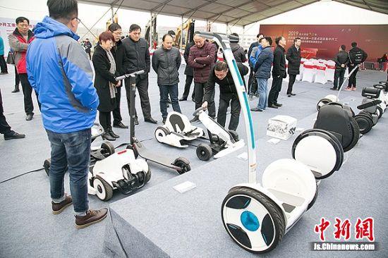 纳恩博智能电动车辆项目建成后将年产100万台智能电动车辆。 杨炎橙 摄