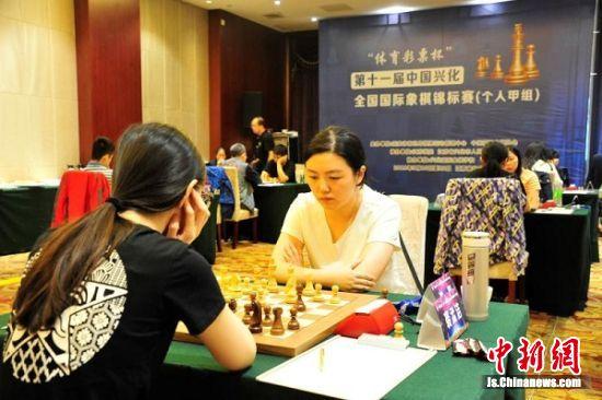 全国国际象棋锦标赛选手正在比赛