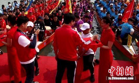 中国龙舟公开赛第二站开赛 国家级龙舟赛事首落淮安