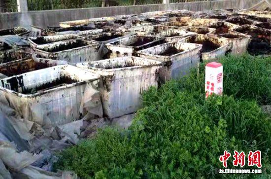 非法倾倒污染生态环境。徐铁法院供图