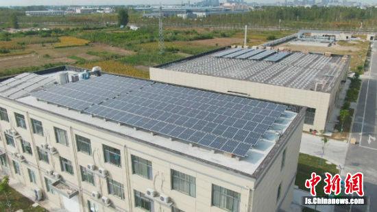 盐城矽润半导体有限公司屋光伏发电站。
