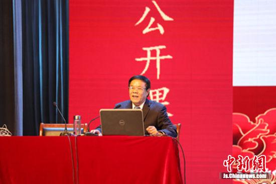 """江苏省""""五个一""""工程奖获得者张广银老师授课。"""