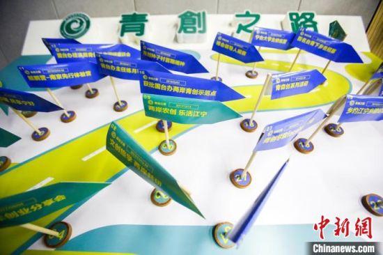 """南京台湾青年创业学院展出的台青""""心路历程""""。 会方供图"""