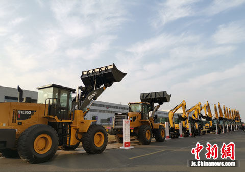 """Iron and Steel Beasts"" stand in Trinity Industrial Park, Kunshan, Jiangsu"