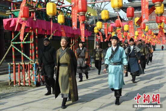 古春节大型体验活动彩排。