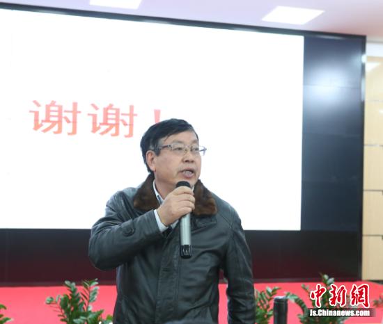 """党委书记王钧铭作会议总结,鼓励全体教师""""不忘初心、牢记使命""""。"""