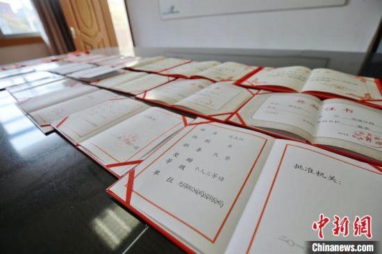 荣志珏生前获得的荣誉展示。警方供图