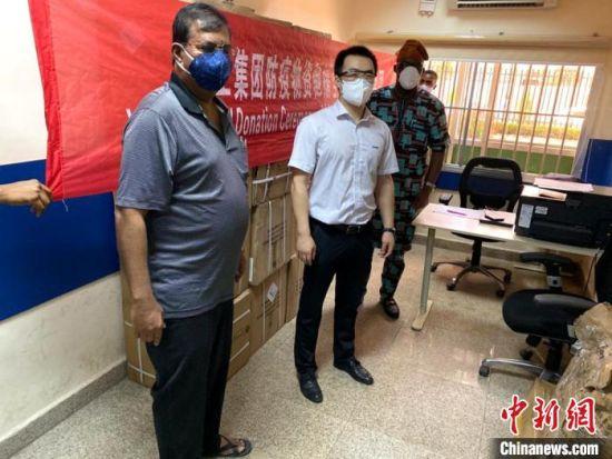 徐工帮助在中国采购的防疫物资到达尼日利亚。 徐工供图
