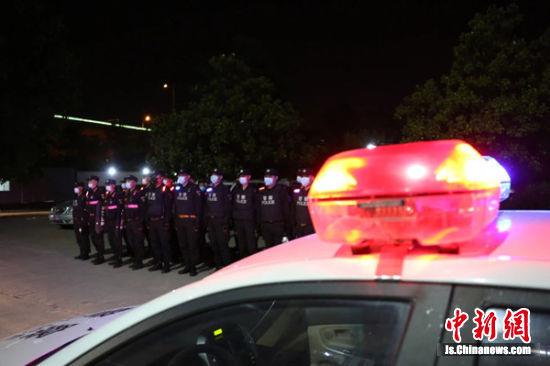 """徐州警方开展""""汉风1号""""严打整治集中统一行动。"""