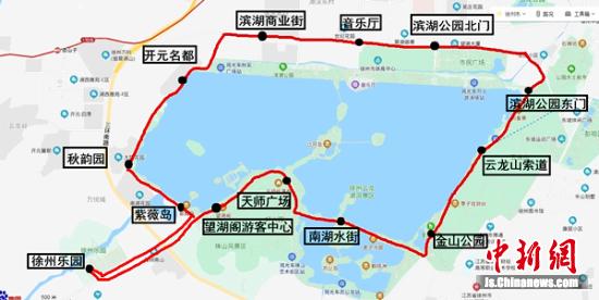 云龙湖环湖旅游观光巴士线路图。