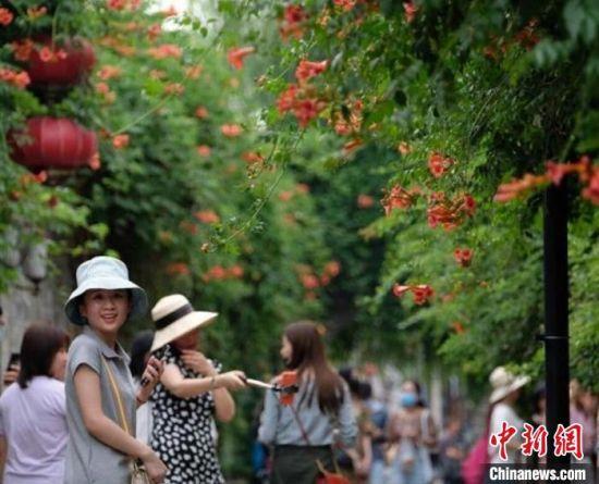 """""""四新行动""""推动消费市场迅速复苏,让南京第三产业成绩突出。 泱波 摄"""