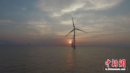 资料图:风力发电。国网江苏省电力有限公司供图
