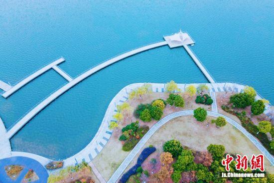 江苏如皋:冬日龙游湖景如画