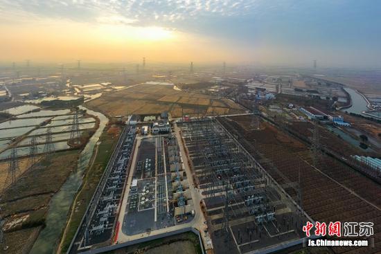江苏电网2021年首个500千伏工程在太仓投运