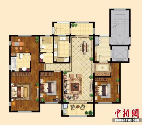 祥璟 g户型 140平米 四房两厅两卫