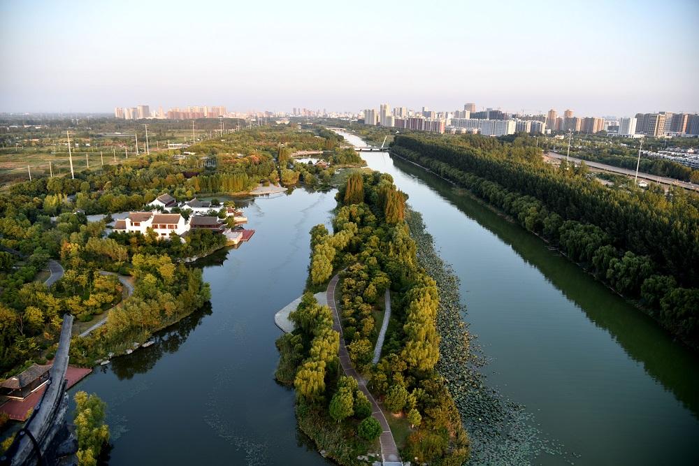 黄河故道穿越宿迁城,成为生态宿迁地理标志