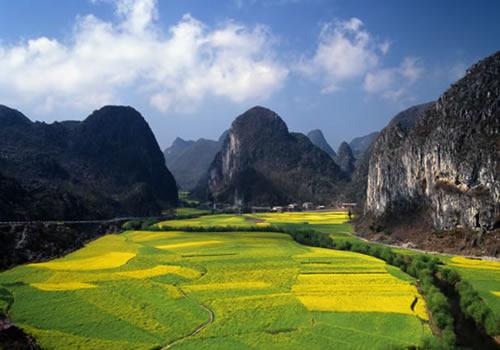 """今天上午,由黄河壶口风景区,黄山风景区和黄果树风景区共同举办的"""""""