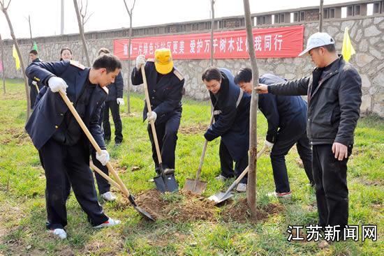 徐州北站掀起春季植树造林热潮(图)——江苏新闻网