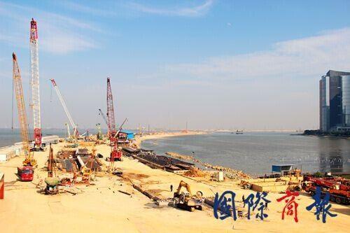 鸟瞰珠港澳大桥珠海连接线-中国铁建十八局集团 雕铸 地下神九
