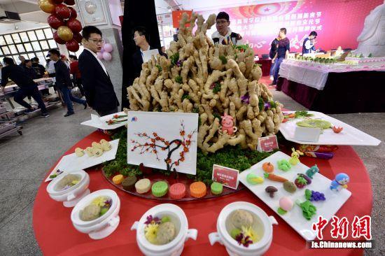 各种造型的美食亮相南京农业大学。寒单 摄